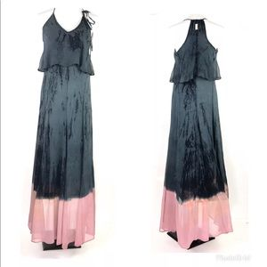 Gypsy 05 Silk Maxi Dress Ombre Boho Hippie